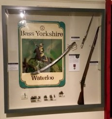 The Waterloo pub sign forms part of the exhibition